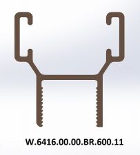 10 MM ALÜMİNYUM FİTİL (H) BRONZ (SP02-P6)