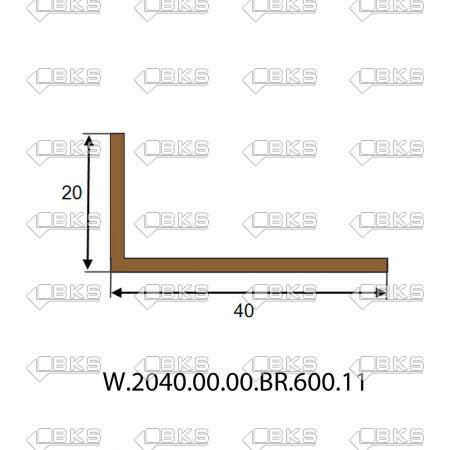20X40 KÖŞEBENT BRONZ (SP02-P6)
