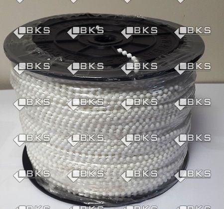 4,5 mm BONCUKLU PLASTİK İP (BEYAZ)