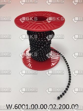 4,5 mm BONCUKLU PLASTİK İP (SİYAH)