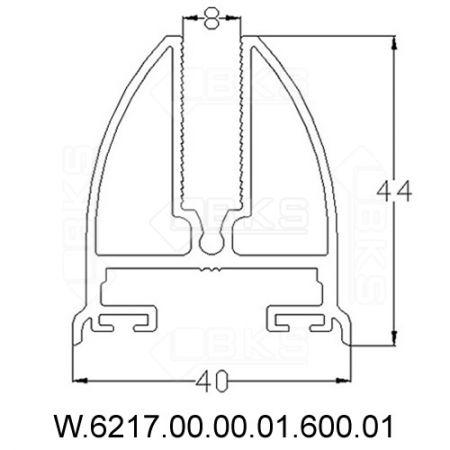 BKS CAM BAZA PROFİLİ (8 mm)(BEYAZ)