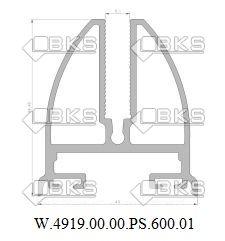 BKS БАЗОВЫЙ ПРОФИЛЬ СТЕКЛА (10 мм)(белый)