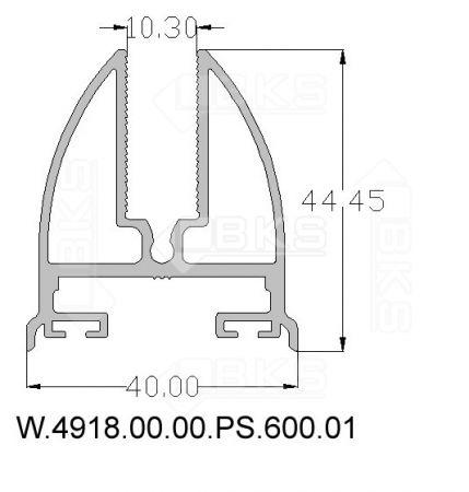 BKS CAM BAZASI PROFİLİ (10 mm) (PRES)