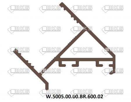 ICS 135 DERECE DİKME PROFİLİ 30 MM BRONZ (SP02-P6)