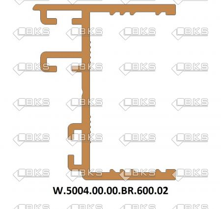 ICS CAM ARA PROFİLİ 30 MM BRONZ (SP02-P6)